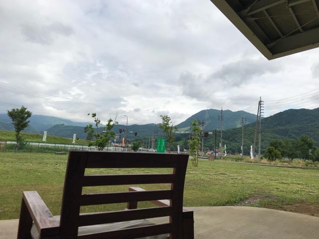 木島平村スキー場を望む景色